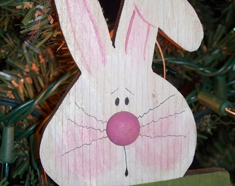 Little BUNNY with sign       Just in time for Easter.