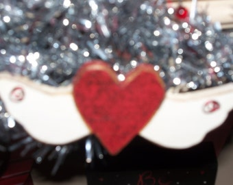 Heart with Wings Ornament