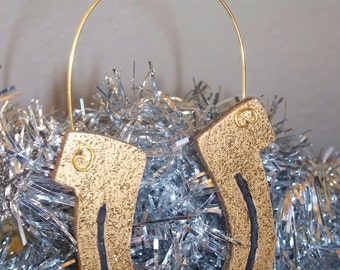 Horseshoe Ornament just in time for St Patrick's Day
