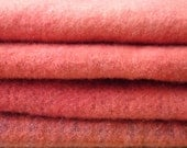 DARBY'S ROSE Soft Rose Hand Dyed Felted Wool Fabric for Rug Hooking and Appliqué  1/2 yard Bundle