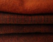 BECKY'S REDWARE  Hand Dyed Felted Wool Fabric  for Rug Hooking and Applique Half Yard Bundle