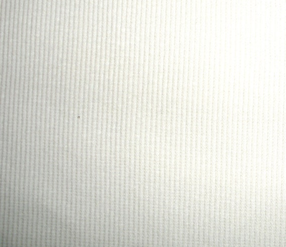 White Stretch Knit Ribbing ... 1/2 Yard by 56 Inches Wide ... Item No. 5148M