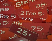 General Store Pricing Tags - Red - Great Fonts