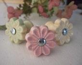 Pastel Ceramic Flower Knob