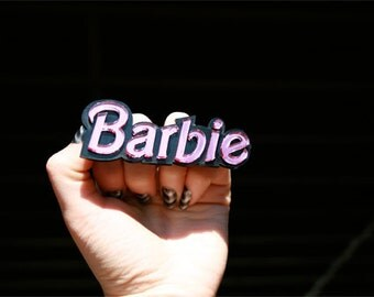 Barbie Font Custom Nameplate Ring (1-7 letters)