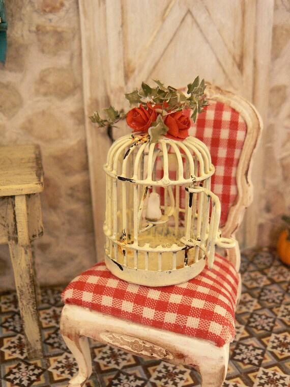 Cage dollhouse miniature