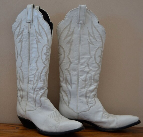 White Leather Cowgirl Boots | FP Boots