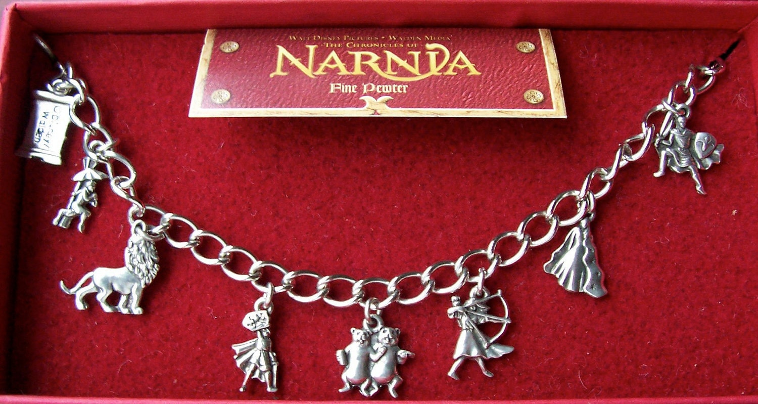 Chronicles Of Narnia Pewter Charm Bracelet By