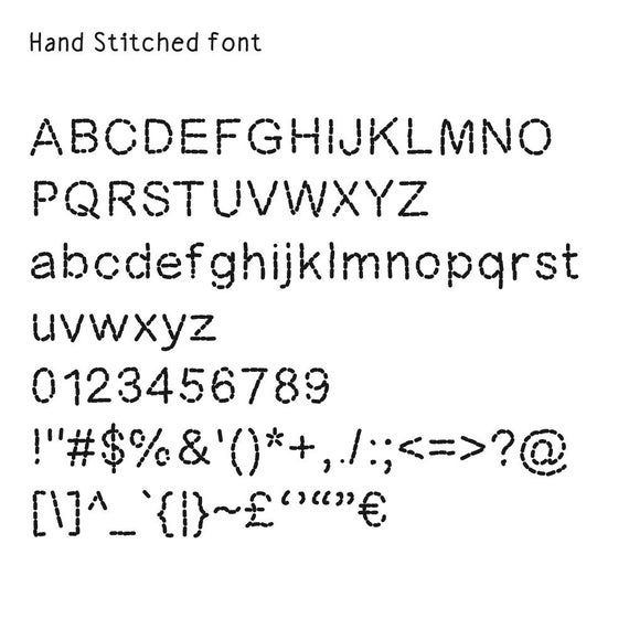 Knitting Fonts For Mac : Font quot hand stitched computer drawn typeface from