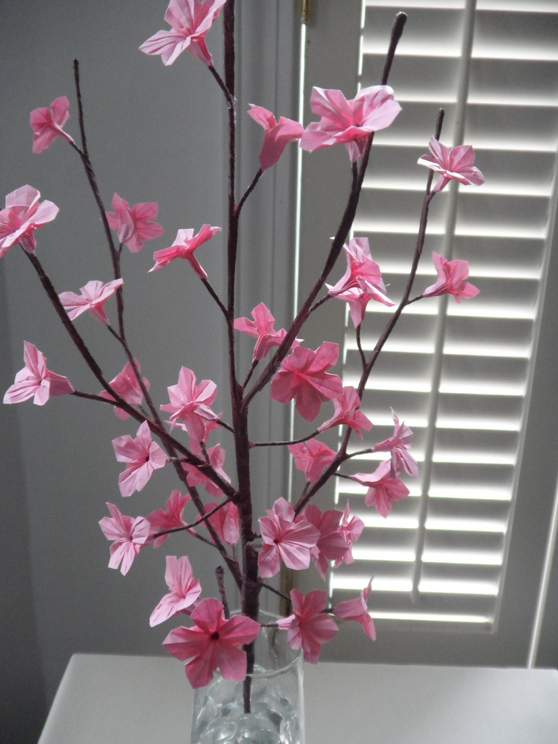Origami Paper Cherry Blossoms Pink by DearBetsy on Etsy - photo#2