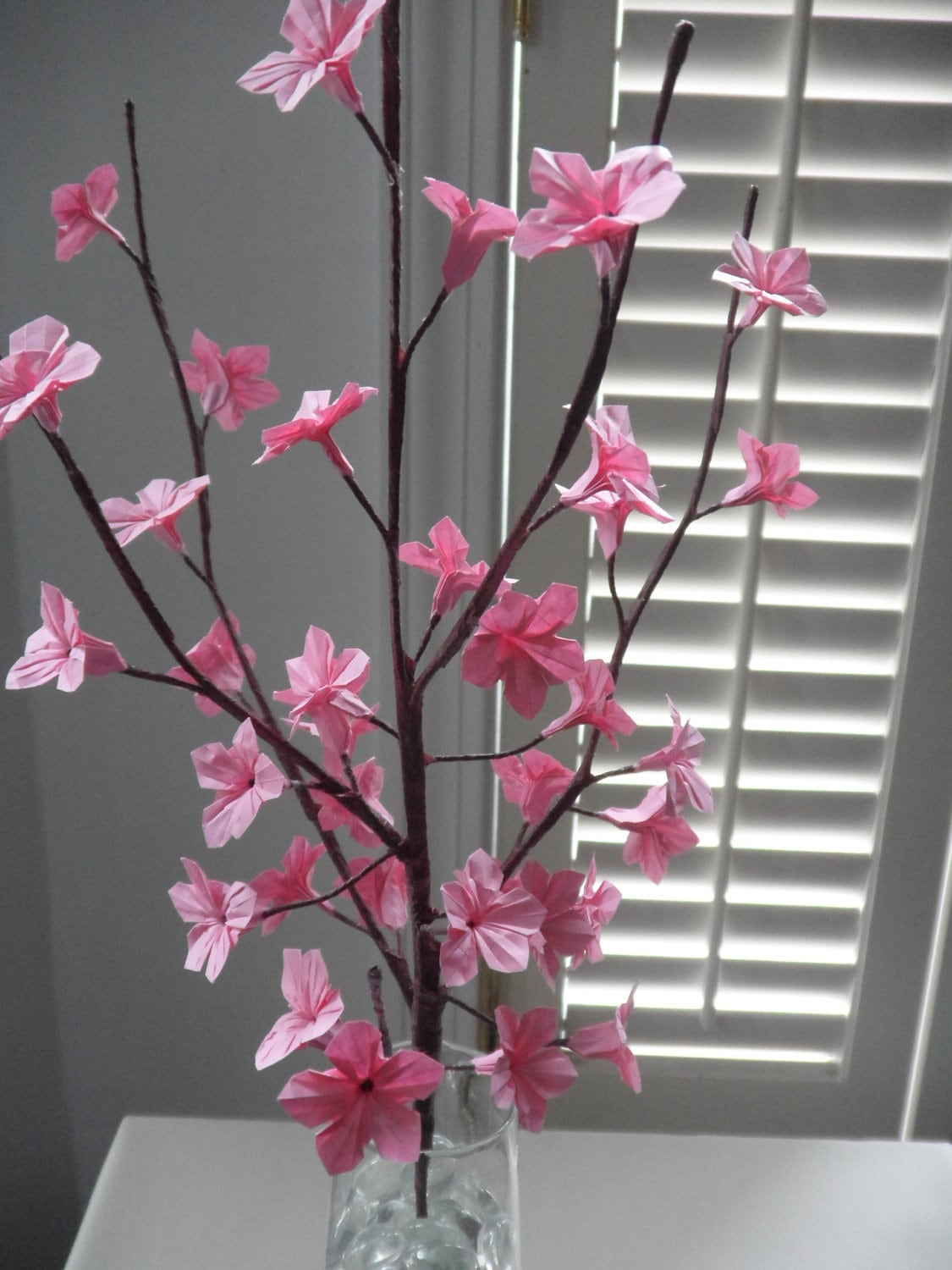 Origami Paper Cherry Blossoms Pink by DearBetsy on Etsy - photo#25