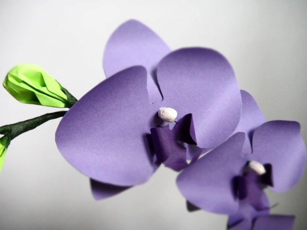 Mini Paper Orchids Purple