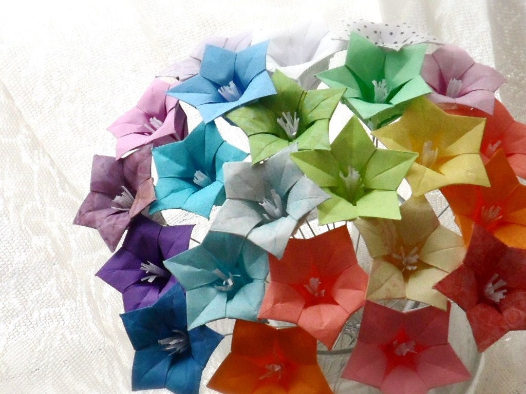 Oh So Ombre Origami Paper Flower Bouquet