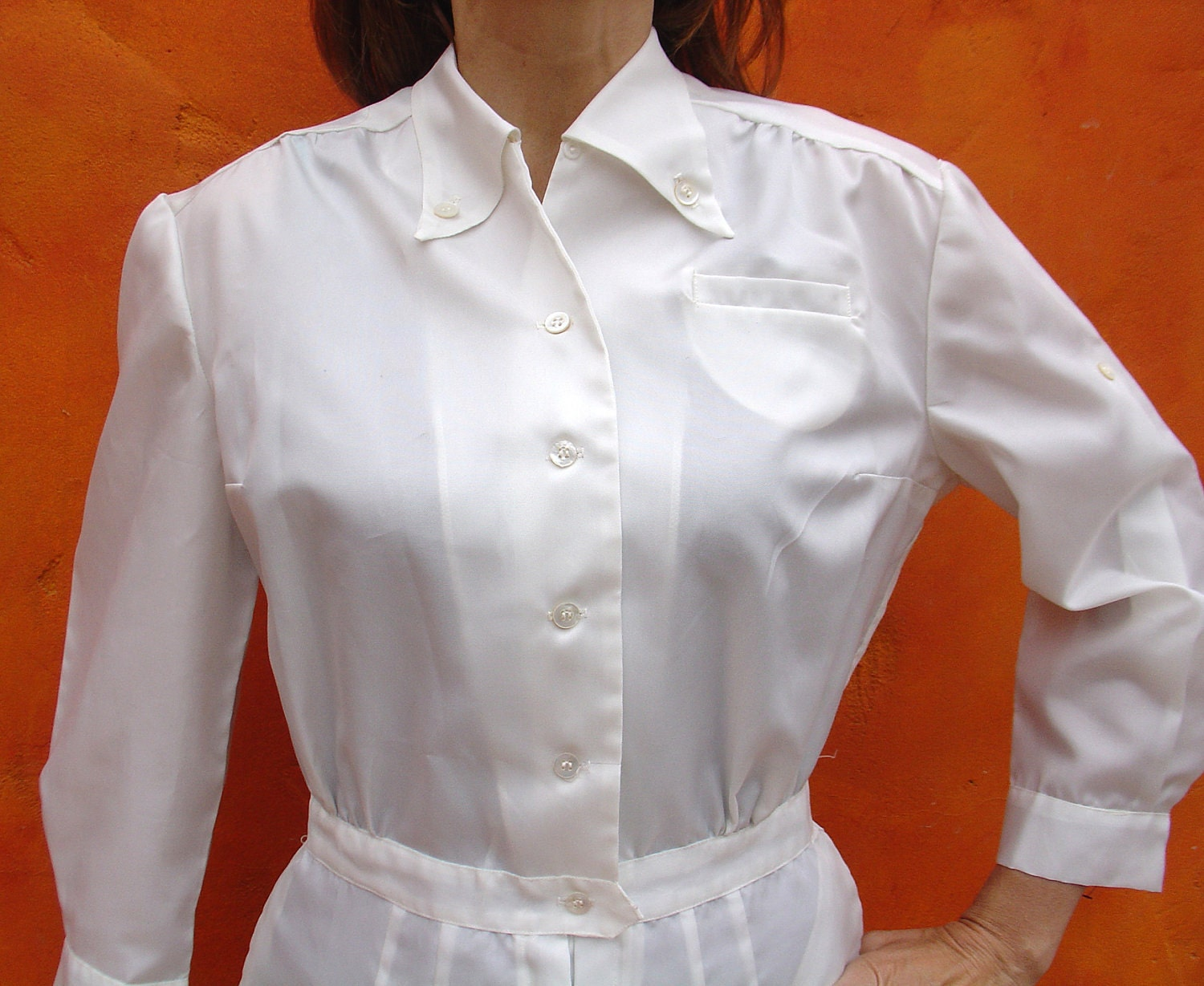 Vintage 60s White Nurses Hospital Uniform By Sweetpickinsshop