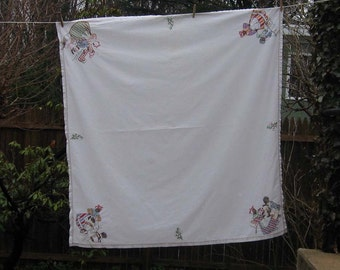 African American Old South Embroidered Tablecloth