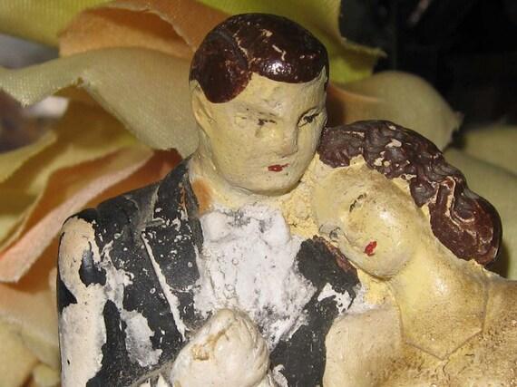 Vintage 1947 Wedding Cake Topper by Melillo Studios