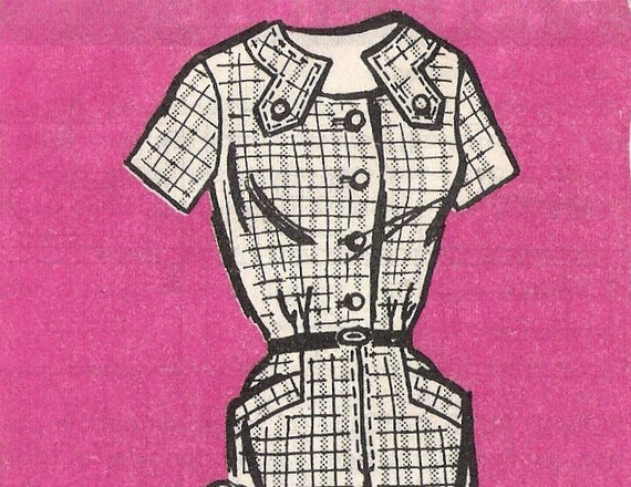 60s Pencil Dress Pattern (Womens size 16)