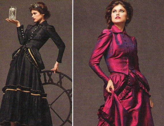 Steampunk Bustle Dress Pattern Simplicity 2207 (Womens sizes 6-8-10-12)