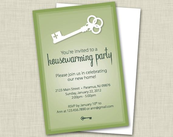 "items similar to custom ""key"" housewarming invitations w"