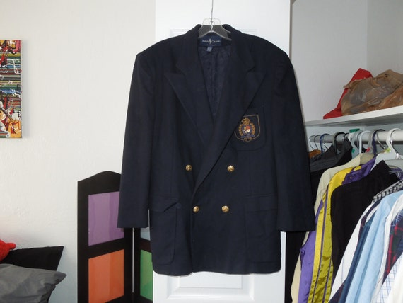 Polo Ralph Lauren Preppy Double Breasted Blazer, Womens Large