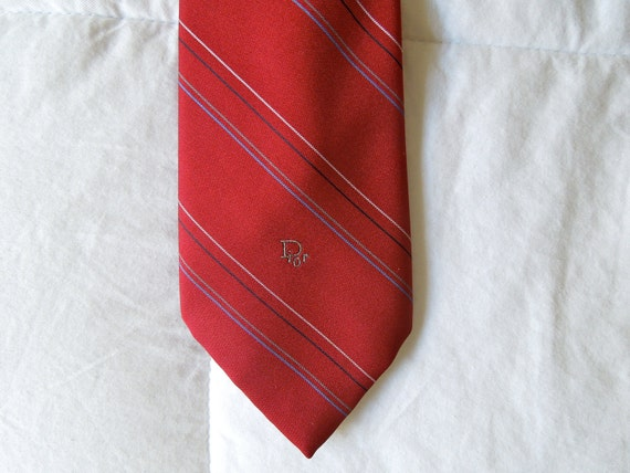 Christian Dior Thin Necktie, Striped