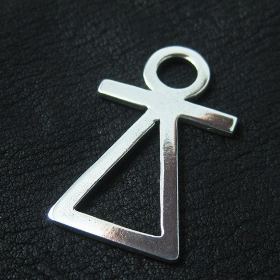 Silver Phoenician Tanit goddess pendant