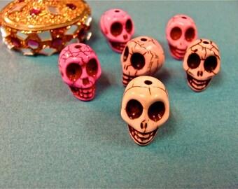 three Skull Calavera Day of the Dead Dias De Los Muertas Beads