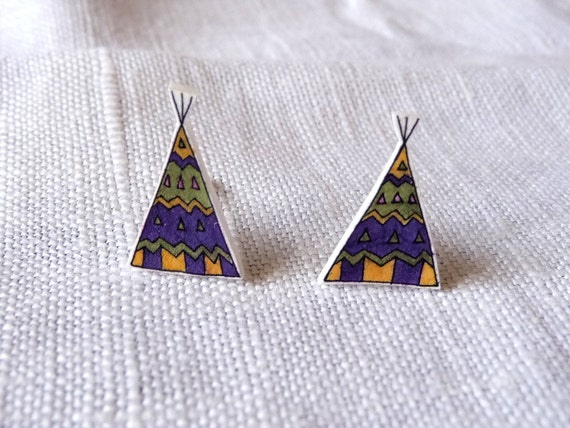 Teepee Tent Stud Earrings