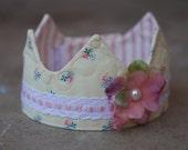 Newborn Fabric Crown - Princess Pearl
