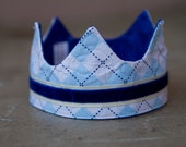 Newborn Fabric Crown - Mini Preppy Prince