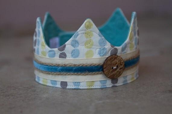 Newborn Fabric Crown - Prince Colin