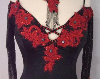 Black Tango Dance Dress from black Velvet  Black Dance Dresses