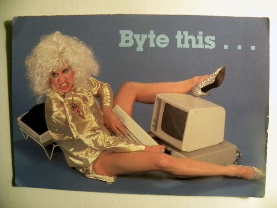 Byte This -Comstock Postcard