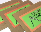"Sewing ""thank you sew much"" cards hand drawn on recycled paper SALE"