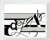 16x20 SCALE print : Palette No. 01 black white