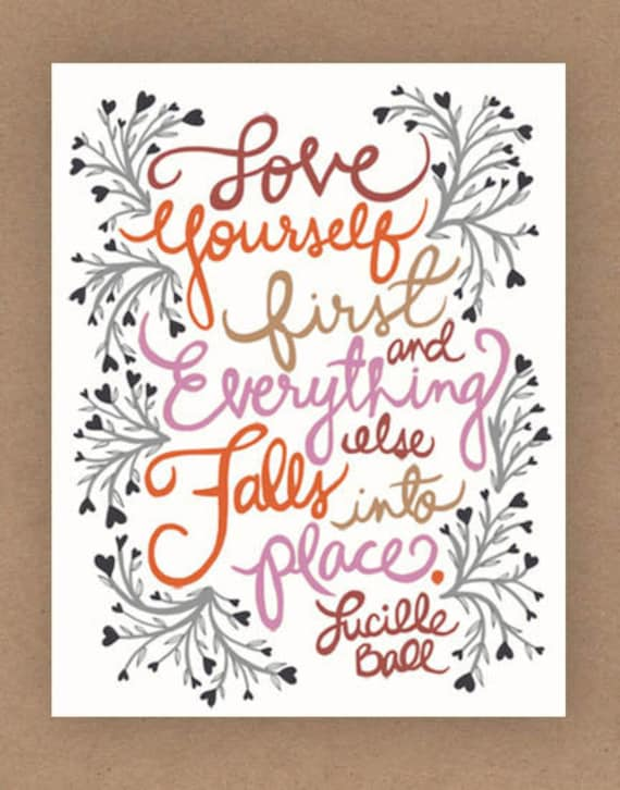 11x14-in Lucille Ball Quote Illustration Print