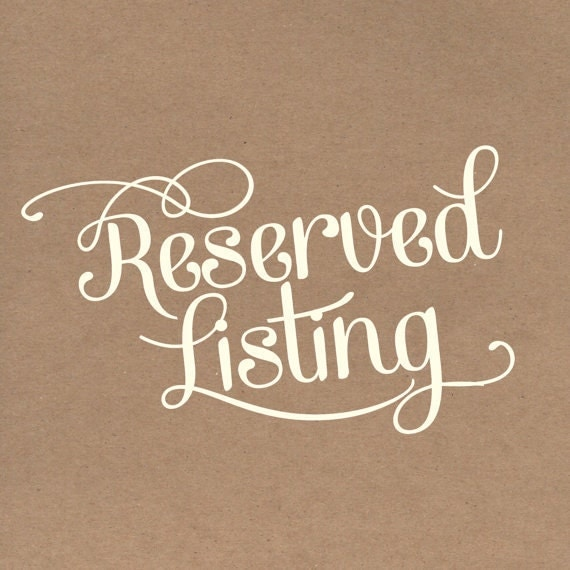 5x7-in Reserved Listing