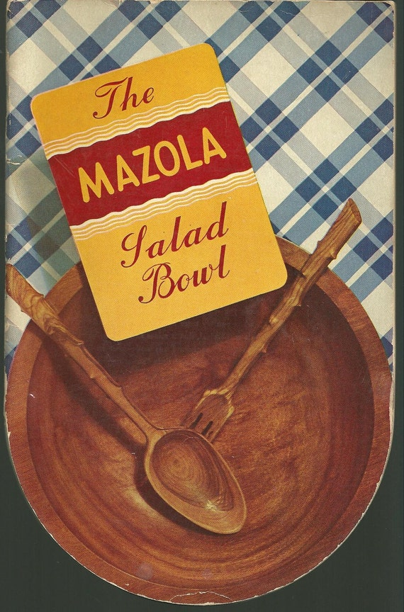 1938 Vintage Cookbook Mazola Advertising Cook Book Happy Homemaker Housewife Retro Kitchen Illustrations Die Cut