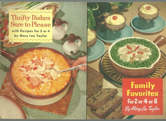 Vintage Cookbooks Mary Lee Taylor PET Milk Advertising Cook Books Thrifty Dishes and Family Favorites