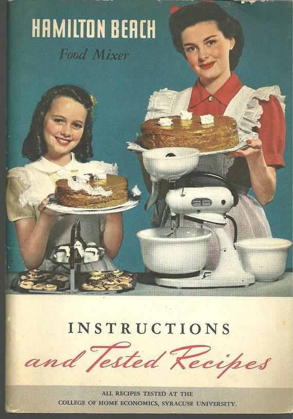 1947 Vintage Hamilton Beach Mixer Cookbook By