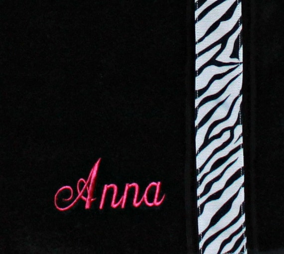 Reserved for Bonnie Personalized Towel Wrap Spa Wrap Monogrammed Wrap--You PICK Your Colors--With Embroidered Initials and Hanging Loops