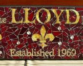 MOSAIC  family name sign, welcome sign, established sign, business sign