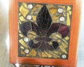 LSU Colored Mosaic Fleur De Leis