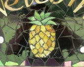 Mosaic Pineapple Welcome Sign