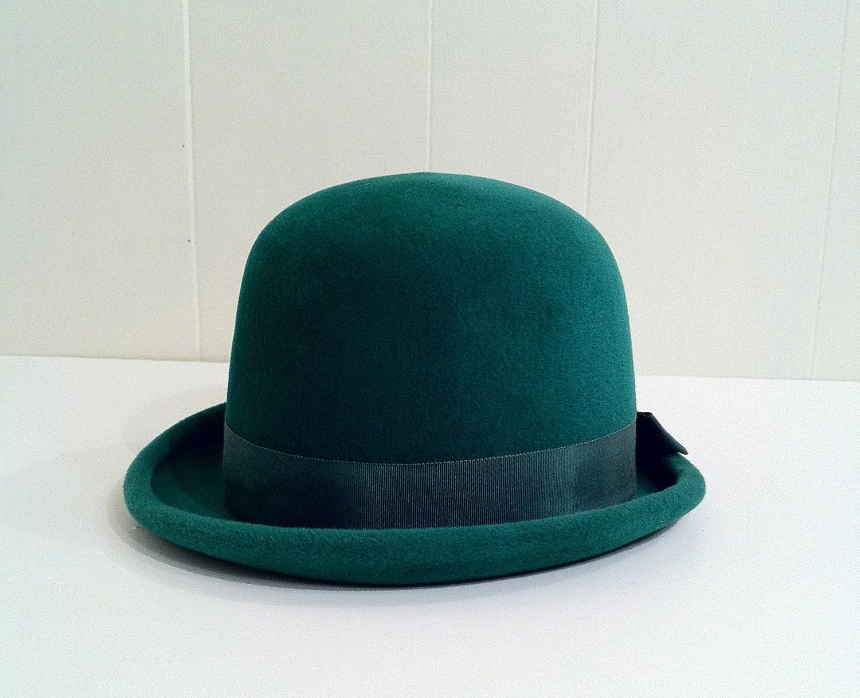 shamrock green vintage 1950s s bowler hat by slvintage