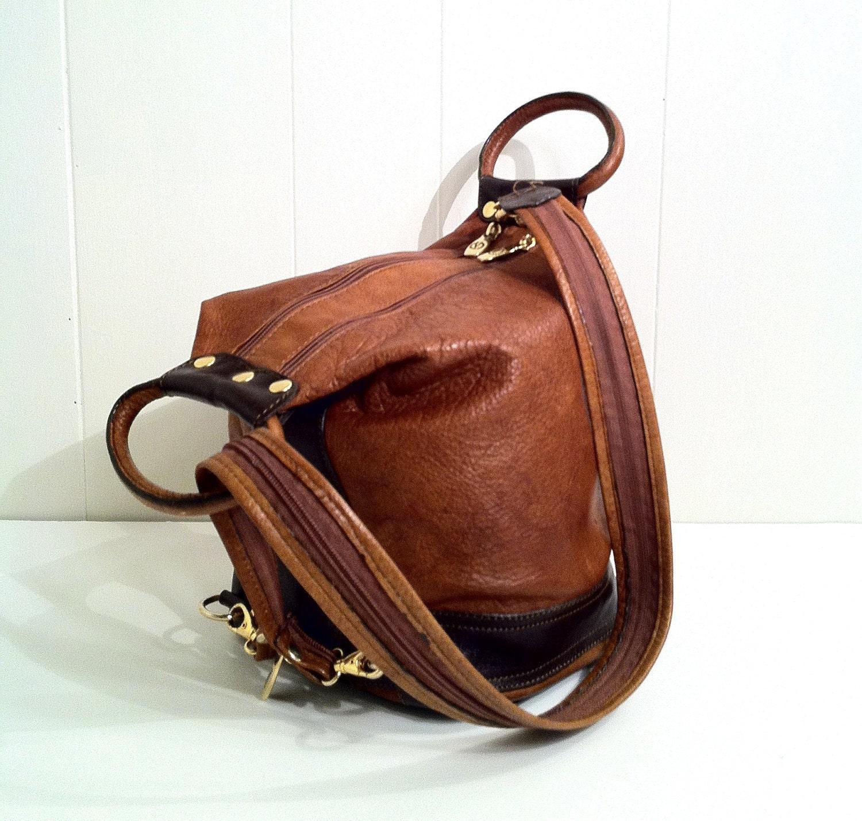 Valentina In Pell Leather Handbag Equestrian By Slvintage