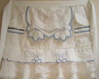 Fancy Apron, White Vintage