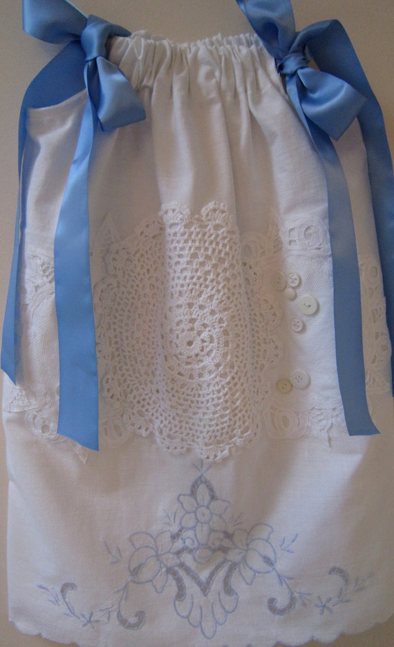 Blue and White Pillowcase Dress