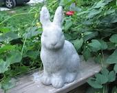 Concrete Shabby Rabbit Statue Sitting Up