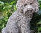 Cast Stone Bichon Frise Dog Statue
